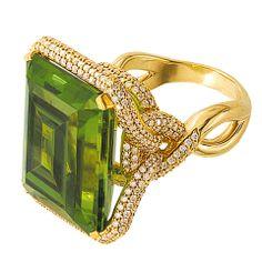 Tamir Incredible 35.90ct Peridot and Diamond Ring.