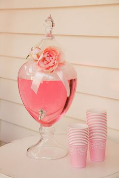 I have drink servers...but they're not pink :-/ Maybe a big pink bow would make them work.