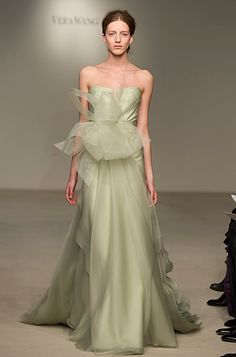 I think I love this... celery instead of blush? vera wang