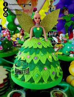Torta Decorada de #Tinkerbell #Campanita