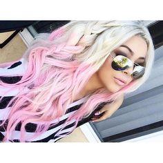 bellamihair instagram photo Hair Color Pink, Pink Hair, Cotton Candy Hair, Coloured Hair, Mermaid Hair, Crazy Hair, Grunge Hair, Ombre Hair, Blonde To Pink Ombre