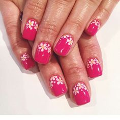 Todays the first day of Spring and we sure are excited! !! How about you!  Floral gel nails by Tram @tramsnails #seasonssalon #nailart #naildesigns #gelpolish #nailsbytram #Padgram