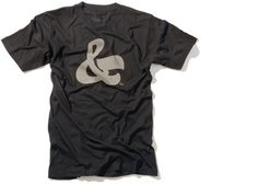 Guys, show your typographic appreciation with an Ampersand Tee from House Industries. Womens shirts also available. $24.00
