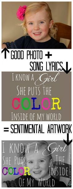 Ever wondered how to put song lyrics over a photo?  This easy step-by-step tutorial will show you how!  Makes a great gift or meaningful home decor. How to put song lyrics over a photo.