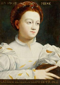 a very flattering portrait of Catherine de Medici (ascribed to) Niccolo dell' Abate (Modena 1509 - 1571 Fontainebleau)