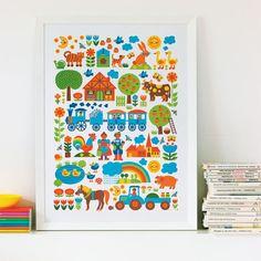 Poster FARM ByGraziela — Bodie and Fou - Award-winning inspiring concept store Abc Poster, Kids Poster, Poster Prints, Design Shop, Poster Online, Farm Kids, 4 Kids, Motifs Animal, Illustrations