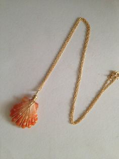 RESERVED Sunrise shell necklace by SurferGirlJewelry on Etsy, $125.00