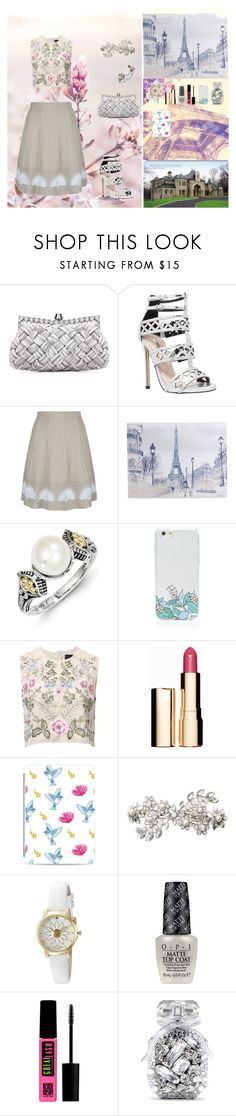 """""""Dreams In Reality"""" by oksana-kolesnyk ❤ liked on Polyvore featuring Carvela, D.Exterior, Graham & Brown, OTM, Needle & Thread, Clarins, Casetify, Accessorize, Kate Spade and OPI"""