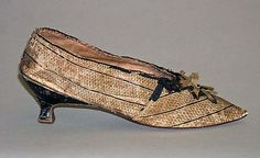 Slippers Date: 1785–90 Culture: French Medium: leather Accession Number: C.I.38.100.8