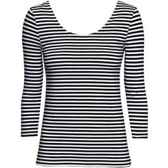 H Top ($12) ❤ liked on Polyvore