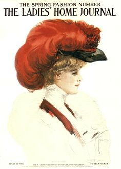 1907 Magazine add - just look at that #feather #hat!!