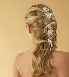 long hair wedding styles