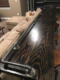 DIY Pipe Industrial Sofa Bar Table
