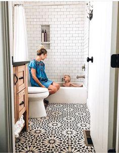 Small Bathroom Design Ideas Apartment Therapy throughout Bathroom Renovation Ideas Apartment - Best Home Decor Ideas Bathroom Renos, Bathroom Flooring, Bathroom Renovations, Bathroom Ideas, Shower Ideas, Budget Bathroom, 1950s Bathroom, Bathroom Designs, Bathroom Cabinets