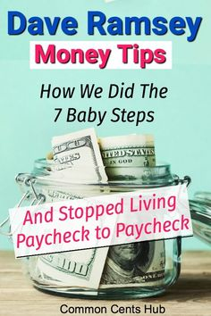 If you're looking for Dave Ramsey tips on how to do his 7 Baby Steps, here's how we did each step. How you can go from paycheck to paycheck to save, pay off debt and finally invest and get ahead! Make More Money, Ways To Save Money, Money Tips, Money Saving Tips, Saving Ideas, Extra Money, How To Become Rich, Managing Your Money, Frugal Living Tips