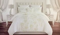 Nicole Miller Bedding 3 Piece Full Queen Duvet Cover Set Subtle