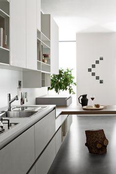 Creme Küche Holzverkleidung Küchenrückwand #kitchen #modern #ideas |  Minimalistische Küche | Pinterest