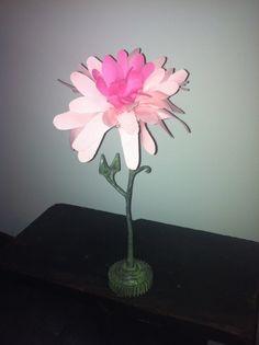 Metal and fabric dahlia flower Dahlia Flower, Flowers, Metal, Plants, Fabric, Design, Art, Tejido, Art Background