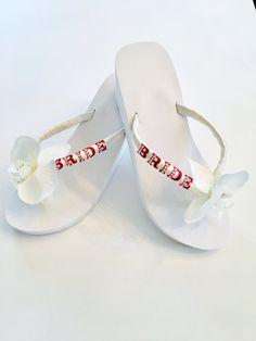 Beach Wedding Wedge Flip Flops Aqua Blue Teal Platform Heel Sandals Starfish Bling Flop Shoes