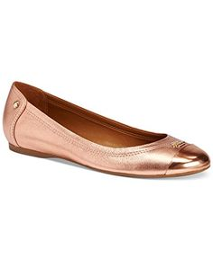 ef33958fbe512 Amazon.com | COACH Women's Chelsea Rose Gold Metallic Tumbled/Mirror  Metallic Flat 9.5 M | Flats