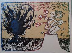 Pierre Alechinskj    Volcan alphabetique 1970