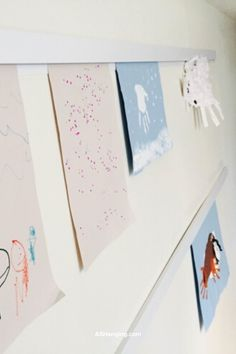Your fridge is covered. Your walls can't take anymore tape. Push-pins on bulletin boards make you nervous because those sharps are really not safe around little fingers (or mouths). And your kiddo's prior arts and crafts project is still on prominent display.