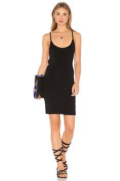 LNA Strappy Mini Dress in Black