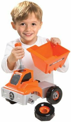 Black And Decker Junior Build And Play Dump Truck (Closed Box) by Jakks. $49.99. From the Manufacturer                Build your own dump truck using Black  and  Decker Junior pretend tools. Comes with everything you need. Use the tools to assemble the parts, and create your very own dump truck.                                    Product Description                Build your own dump truck using Black and Decker Junior pretend tools. Comes with everything you ...
