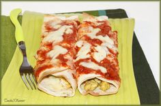 Enchiladas poulet, poivron, mozzarella Mozzarella, Lasagna, Zucchini, Sandwiches, Bakery, Tacos, Mexican, Lunch, Chicken