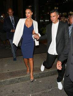 Jessica Alba Cash Warren NYFW Date Night September 2015 | POPSUGAR Celebrity