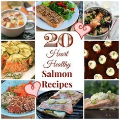 20 Heart-Healthy Salmon Recipes from All Day I Dream About Food (and thanks for including my Pecan-Crusted Salmon recipe.) #LowCarb  #SalmonRecipes