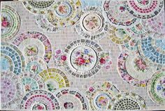 I don't like the colors, but this is a good example of a broken plate mosaic!