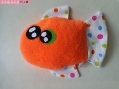 Doudou monstre kawaii Poisson orange : Jeux, jouets par l-atelier-de-ge