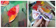 Пишем маслом картину «Маки в поле»: используем мастихин и кисти - Ярмарка Мастеров - ручная работа, handmade