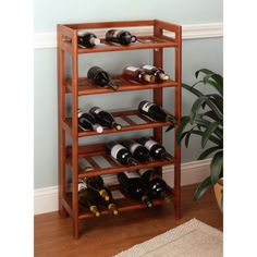 Simple Ravishing Wine Rack Furniture Design Inspirations by Angela Patricia with Oak Wood Materials Wine Rack Frame Types and Five Levels Wine Rack Space