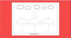 Grafomotorika. Kreslíme dážď. - Aktivity pre deti, pracovné listy, online testy a iné