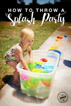 how to throw a splash party