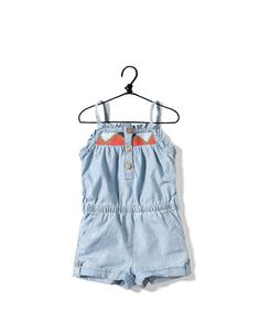 denim jumpsuit with embroidered straps - Skirts and shorts - Baby girl (3-36 months) - Kids - #ZARA