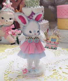 SaturdayFinds -Vintage Inspired Gifts, Timeless Treasures and More! Handcrafted Originals and Exceptional Estate Sale Finds are my passions. Vintage Birthday Cakes, Miss Bunny, Birthday Cake With Candles, Birthday Crafts, Vintage Easter, Easter Crafts, Some Fun, Vintage Inspired, Craft Projects