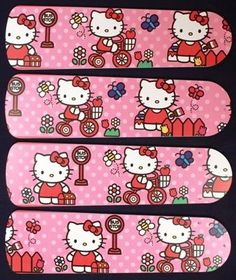 "Hello Kitty Sweet Dreams Ceiling Fan 42"""" Blades Only"
