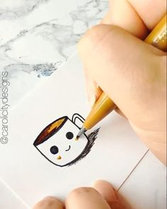 me (Worldwide Tracked Shipping) coffee doodle paperhouse shipping tracked worldwide 630715122800008805 Cute Easy Drawings, Art Drawings For Kids, Pencil Art Drawings, Doodle Drawings, Art Drawings Sketches, Realistic Drawings, Drawing Ideas, Bullet Journal Art, Bullet Journal Ideas Pages