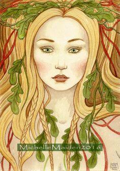 Spring Maiden ORIGINAL watercolour Spring by ElementalOtherworld