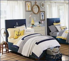 Decorating theme bedrooms - Maries Manor: nautical bedroom ideas - decorating nautical style bedrooms