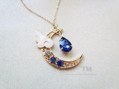 PRE-ORDER: The Moon Judge - Cardcaptor Sakura Yue Inspired Necklace http://etsy.me/2EAud5S #cardcaptorsakura #ccs #yue #yukito #touyuki #yukitotsukishiro #ccsakura #clearcard #clearcardarc #clearcardhen #jewellery #necklace #blue #starscelestial