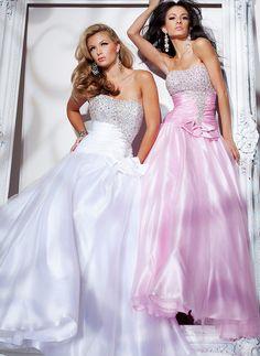 Gorgeous A-line Scoop Neckline Sequins Floor Length Silk Like Satin Graduation Dress