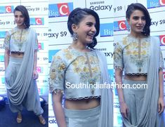 samantha akkkineni dhoti saree samsung galaxy s9 launch event