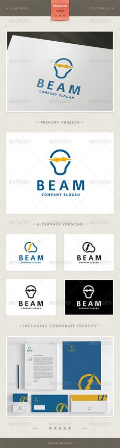 Power Light Logo Template  #GraphicRiver         Beam: is a logo that can be used in energy companies, hardware stores, design studios, software and applications, among other uses. Its design is very simple and is easy to configure. This ready to print.    Customizable 100%   CMYK   AI – EPS – PSD (all files)   Font used Surface and Aller   Logo Template   Letterhead (A4)   Business card (9×5 cm)   Envelope (1/3 A4)   Folder (31.5×24.5)      Created: 28February13 GraphicsFilesIncluded…