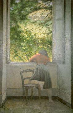Balthasar Klossowski de Rola 'Balthus' - Girl at the Window, 1955 Window View, Window Art, Tate Gallery, Illustration Art, Illustrations, Art Database, Modern Artists, Oeuvre D'art, Art World