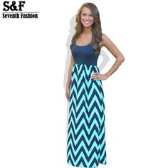 Women's Striped Summer Maxi Dresses - Summer Outfits