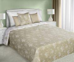 Šedě bílý oboustranný přehoz na postel s malými květy Mattress, Comforters, Blanket, Furniture, Home Decor, Creature Comforts, Quilts, Decoration Home, Room Decor